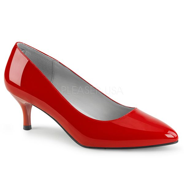 Klassische Pumps in rot Lack KITTEN-01